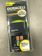Duracell Ion Speed 500 Battery Charger w/2 AA Rechargeable Batteries // Sealed