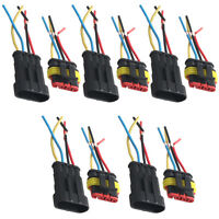 5 X 4 Pin Car Motor Waterproof Electrical Connector Plug Socket Wire Cable