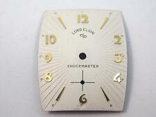 Pearl Lord Elgin Shockmaster Watch Dial Vintage Mens 25.1mm by 20.92mm Gold Mrks