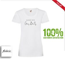 White Personalised Makeup Artist & Beauty Business T-Shirts. Free Shirt Design.