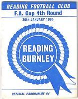 Reading v Burnley 1964/5 FA Cup
