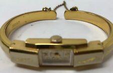 Vintage Rex Ladies Wristwatch 17 Rubis Swiss 20 Microns Enamel Cuff Watch