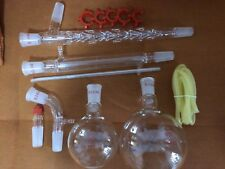1000ml Chemistry Lab Glassware Kit,Glass Distilling,Distillation Apparatus 24/40