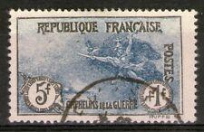 """FRANCE:  n°232 oblitéré, """"5F+1F orphelins""""  (cote 110€)"""