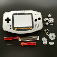 Gold Picachu Silver Housing Shell Pack for Nintendo Game boy Advance GBA