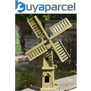 Smart Garden Giant Wooden Windmill Wood Garden Ornament Pine 5020001