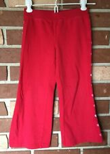 Gymboree Full Of Heart Girls 4 Red Sweatpants Embroidered hearts Ribbed waist