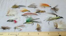 Vintage Fly Fishing Hand Tied Fly Bait Lure ~ Group of 15