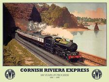 Cornish Riviera Express, GWR Railway Steam Train, Small Metal/Tin Sign, Picture
