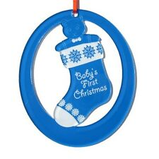 Personalized Laser-Engraved Baby's First Christmas Ornament (Boy) - Made in USA!