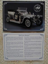 ROLLS ROYCE Silver Ghost 1990 Charity Tour glossy leaflet brochure