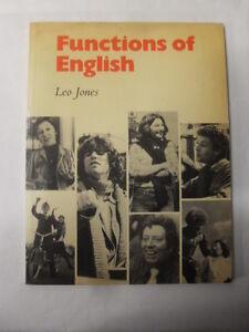 JONES - FUNCTIONS OF ENGLISH - ED.CAMBRIDGE - 1°ED.1977