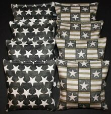 PATRIOTIC Stars USA AMERICAN FLAG Vinatge Rustic 8 ACA Regulation Corn Hole Bags