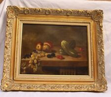 MAGNIFICENT OIL ON CANVAS STILL LIFE PAINTING SIGNED ROY MOSIER