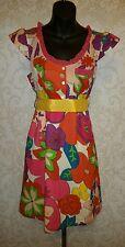 FASHION SPY Boutique Water Color Floral Print Cap Sleeve Dress Sz S #2704