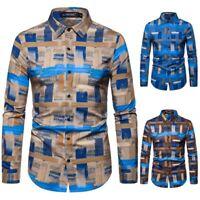 Slim Fit Business Shirt Formal Long Sleeve Fashion Mens Luxury Dress Shirts Top
