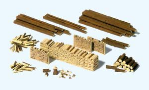 Preiser 17609 Various Woodstacks Kit HO Gauge