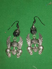FYLING SKULLS EARRINGS-HAND CRAFTED