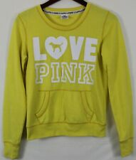 PINK by Victoria's Secret Women's Sweatshirt Sz XS Yellow Color Love Pink