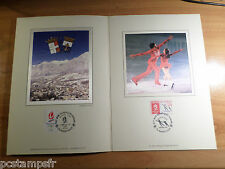 FRANCE 1992, DOCUMENT CERES FDC, SPORT PATINAGE, JEUX OLYMPIQUES ALBERTVILLE