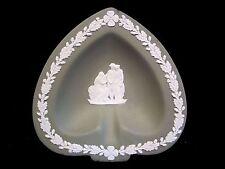 Wedgwood Green Jasperware Women, Porcelain Spade Shaped Ashtray/Dish