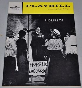 1961 Playbill - Fiorello! - Tom Bosley Cover