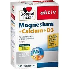 DOPPELHERZ Magnesium+Calcium+D3 Tabletten 100 St PZN 773216