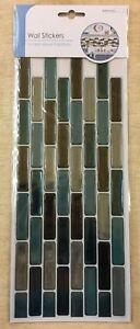 Blue/Black/Silver 3D Wall Tile Stickers, 4 Pack, BNIP, Home, Decor, Wall (E)
