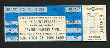 1986 Violent Femmes Unused Full Concert Ticket Irvine Meadows Amphitheatre