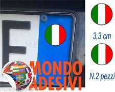 Adesivo targa BANDIERA ITALIANA 3,3 cm bollino targa TUNING AUTO Sticker 2 pz.