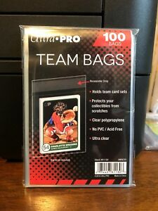 Ultra Pro Team Bags Sleeves 1 Packs of 100 for Team Sets or Toploaders