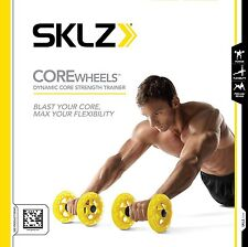 Wheels Abs Upper Body Workout Equipment Exerciser Home Gym Compact Set NEW
