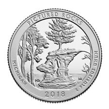 In Stock!!! 2018-S Pictured Rocks National Park Quarter -Silver Deep Cameo Proof