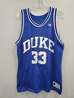 Rare VTG 90s Champion Duke Blue Devils Grant Hill 33 Basketball Jersey Men 48 XL