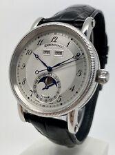 Chronoswiss CH 9323 Lunar Triple Date Moonphase Calendar Automatic SS Watch B&P