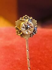 ANTIQUE EDWARDIAN 15 CT STICK PIN & DIAMOND RARE COLLECTABLE EARLY 1900S