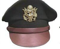 WW II Crusher Cap Visor US Army USAAF AAF Officer Collectible Militaria Replica