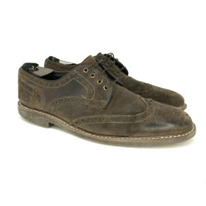 Johnston & Murphy Men's Derby Brown Wing Tip Dress Shoe Lace Up Size US 8