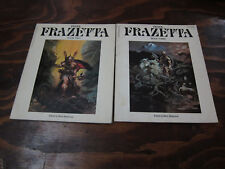 LOT OF 2 FANTASY ART OF FRANK FRAZETTA BETTY BALLANTINE VOLUME 2 3 BOOKS