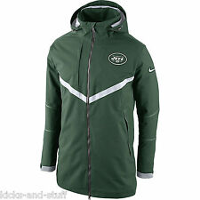 New York Jets Nike Full Zip Down Parka Men's Jacket Size XL Green NFL  Very Warm