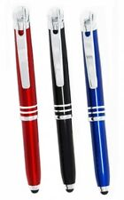 LED Lighted Tip Ballpoint Pen with Stylus in red