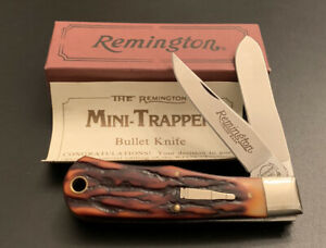 1991 REMINGTON UMC R1178 2-Blade Mini Trapper Bullet Knife w Box & Paperwork New