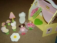 Miniature Wooden Sweetpea Doll house + some furniture