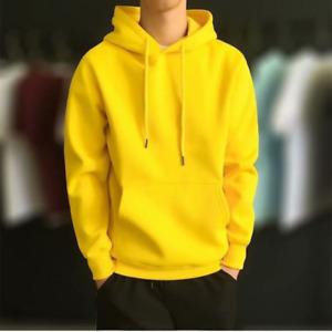 Mens Pullover Sweatshirt Tracksuit Sweater Tops Long Sleeve Plain Hoodie Casual