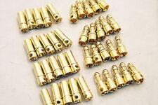 New 40 Pcs 3.5mm Gold-plated Bullet Banana Plug Connector RC Battery Plane ESC