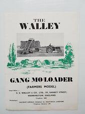 The Walley Gang Mo/Loader 4pg Leaflet/Brochure 1953? Rare?