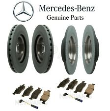 For Mercedes W166 ML350 Front & Rear Disc Brake Rotors & Pads and Sensors KIT