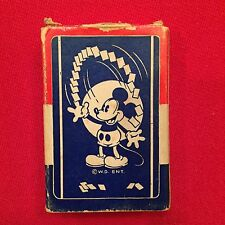VINTAGE DISNEY MICKEY MOUSE MINI PLAYING CARDS!! 1st DEBUT - ALL 54 CARDS