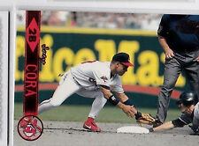 CLEVELAND INDIANS JOEY CORA 1999 PACIFIC AURORA RED PARALLEL #126