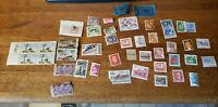 Mixed Lot of  42 World Stamps Cancelled and Un-Cancelled Pre-Owned 07-20